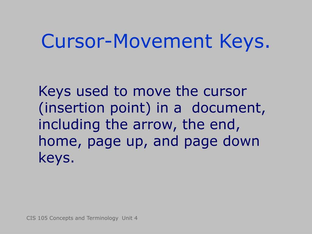 Cursor-Movement Keys.