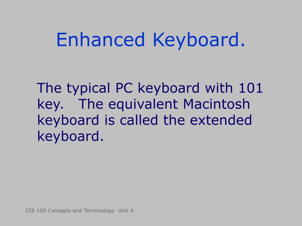 Enhanced Keyboard.