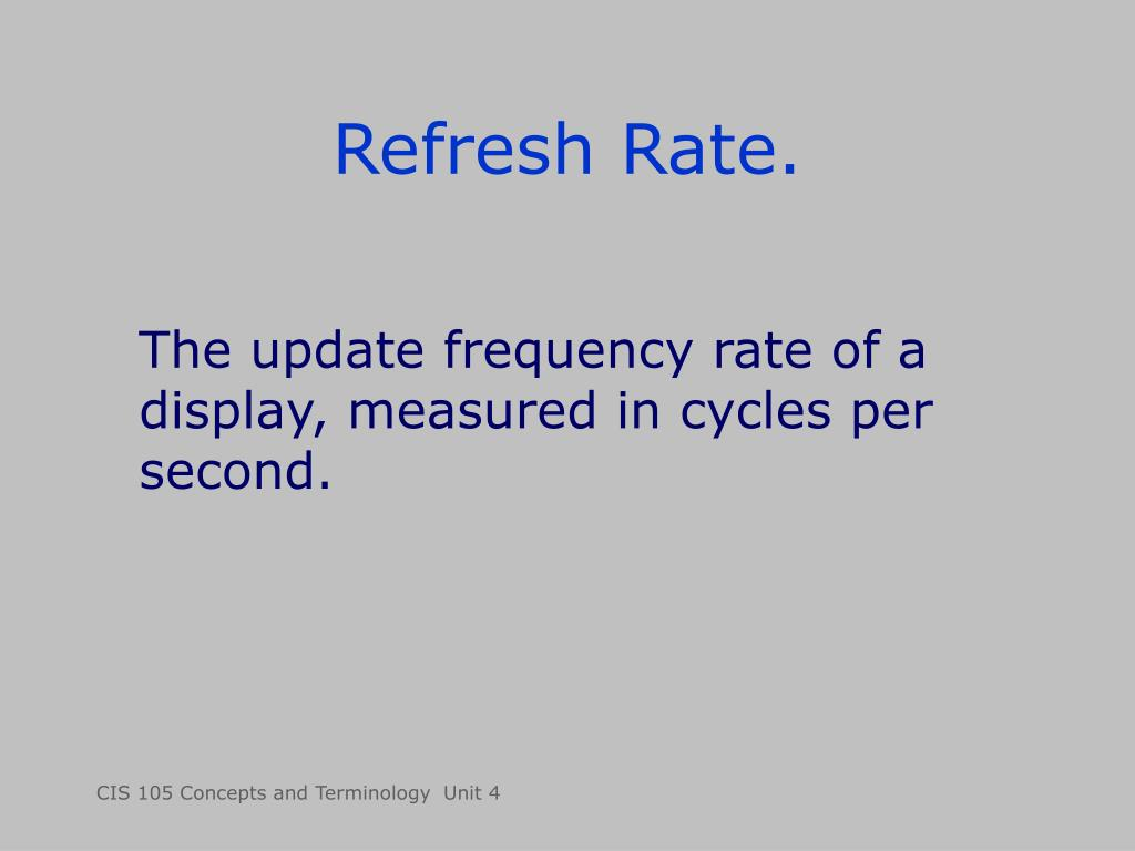 Refresh Rate.