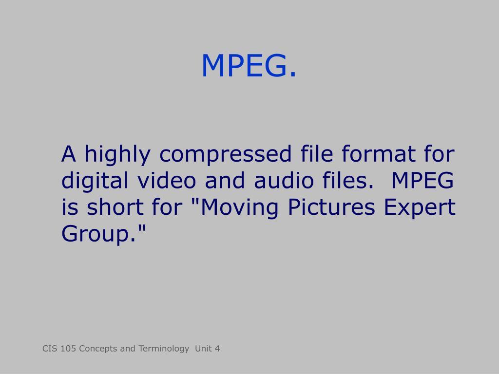MPEG.