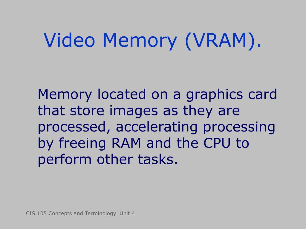 Video Memory (VRAM).