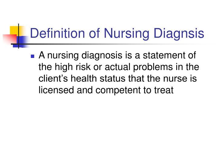 PPT - Analysis- Nursing Diagnosis PowerPoint Presentation ...