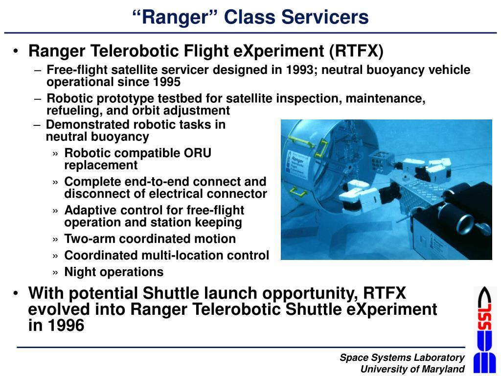 """""""Ranger"""" Class Servicers"""