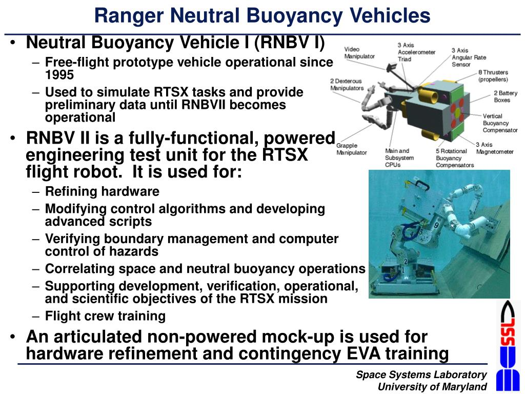 Ranger Neutral Buoyancy Vehicles