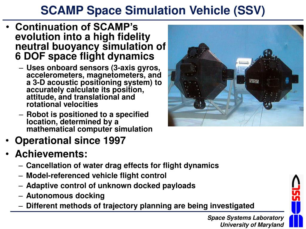 SCAMP Space Simulation Vehicle (SSV)