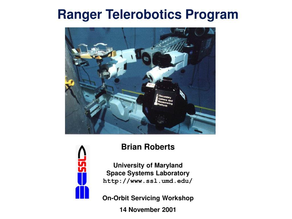 Ranger Telerobotics Program