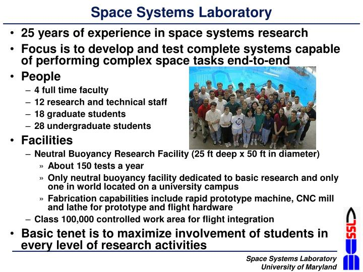 Space systems laboratory