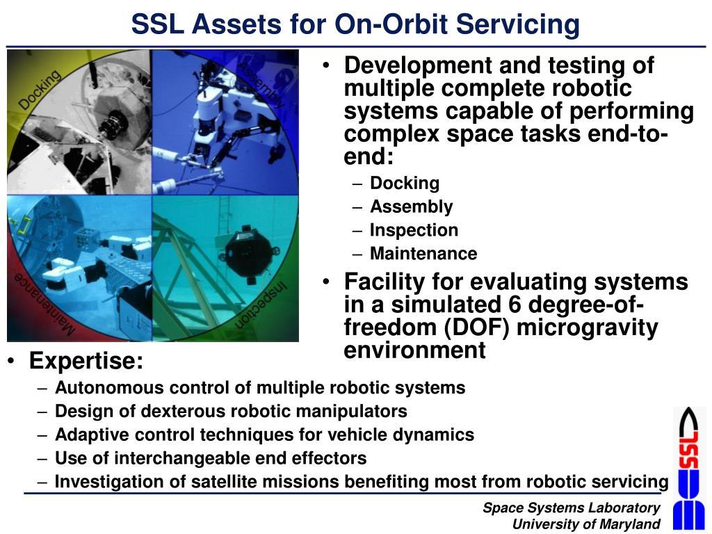 SSL Assets for On-Orbit Servicing
