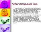 author s conclusions cont
