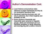 author s demonstration cont