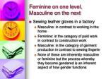 feminine on one level masculine on the next