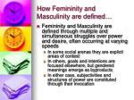 how femininity and masculinity are defined