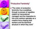 productive femininity