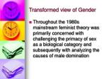 transformed view of gender