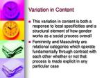 variation in content