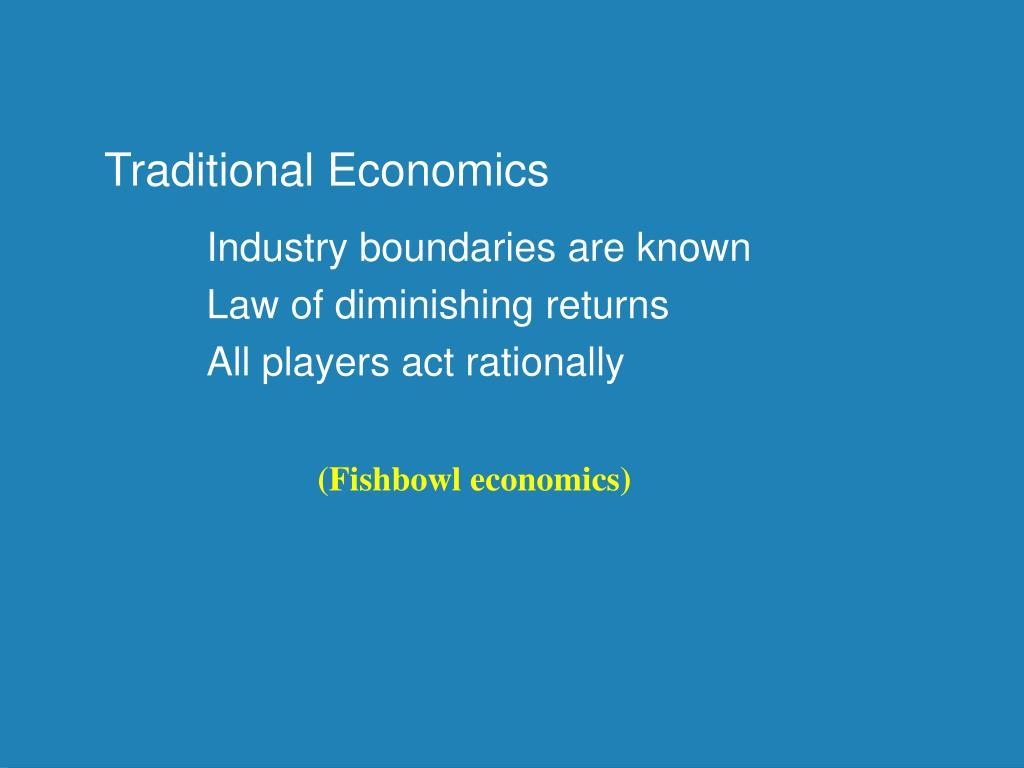 Traditional Economics