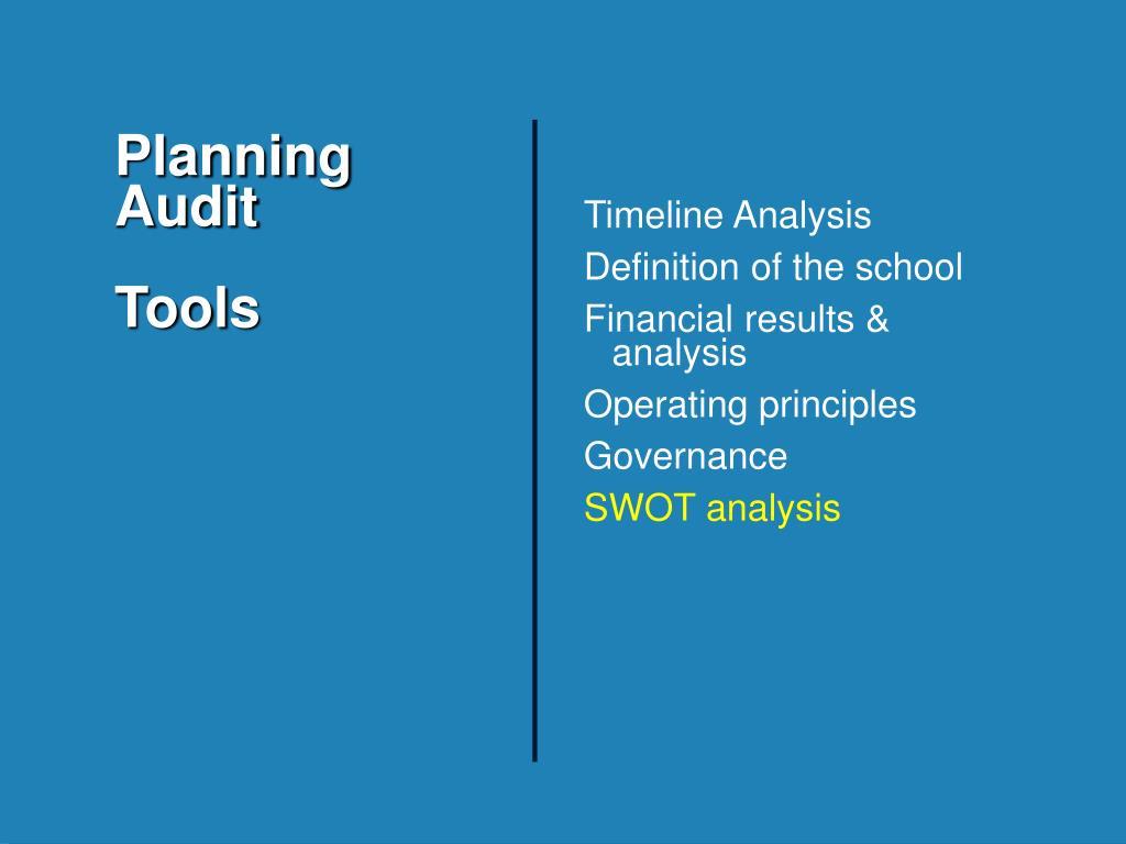 Planning Audit
