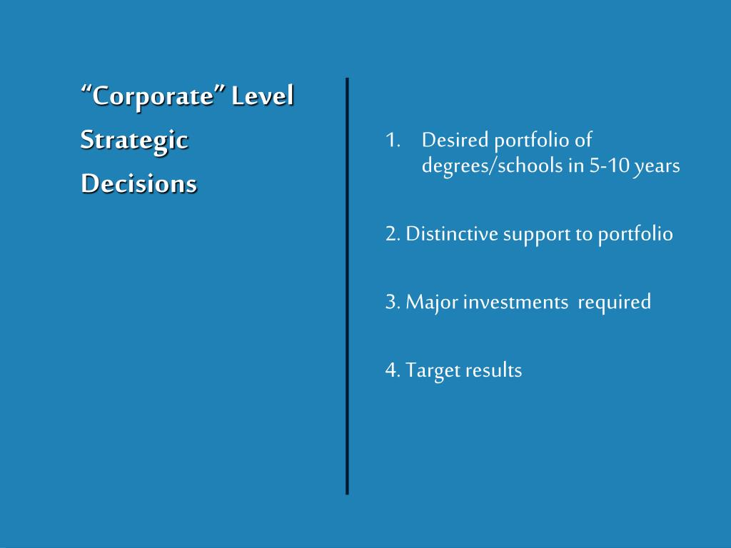 """Corporate"" Level"