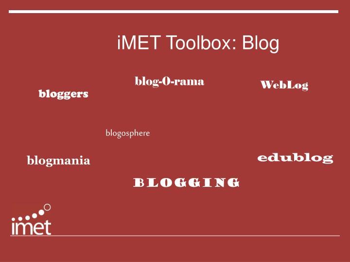 Imet toolbox blog
