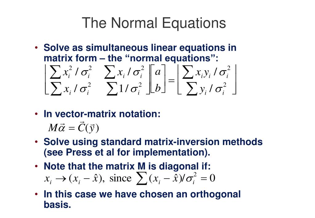 The Normal Equations