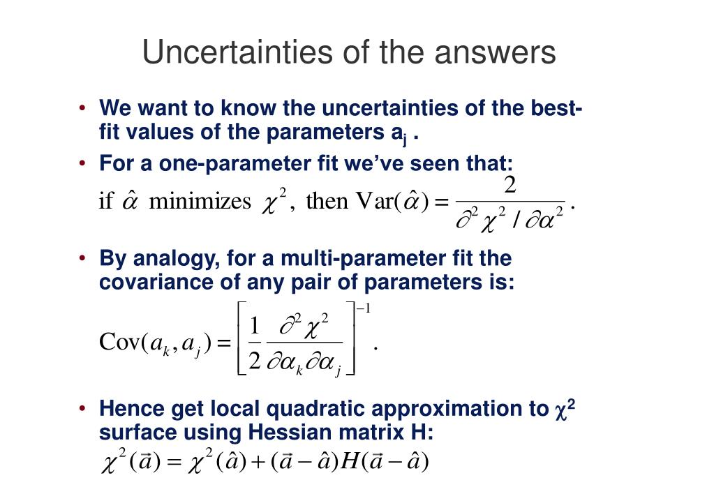 Uncertainties of the answers