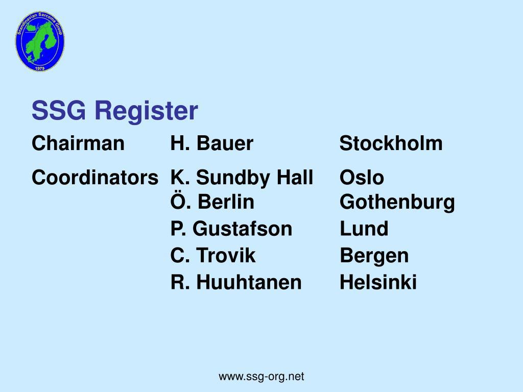 SSG Register