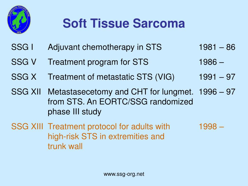 SSG IAdjuvant chemotherapy in STS1981 – 86