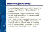 executive agent authority