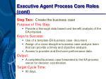executive agent process core roles cont