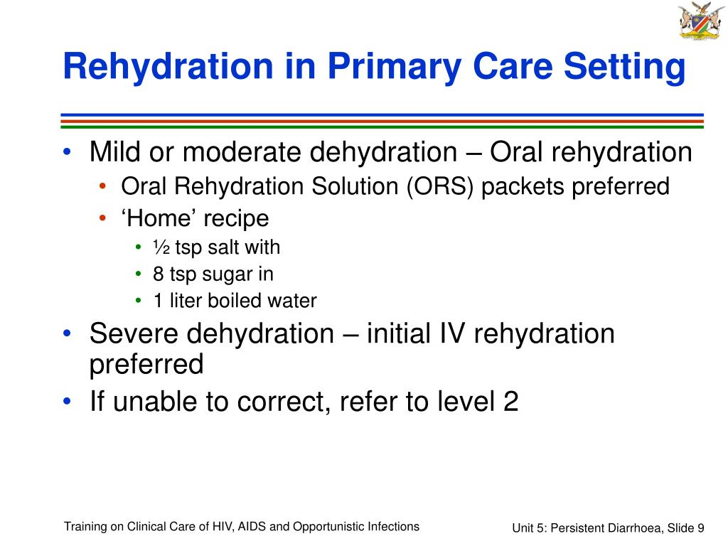 Rehydration in Primary Care Setting