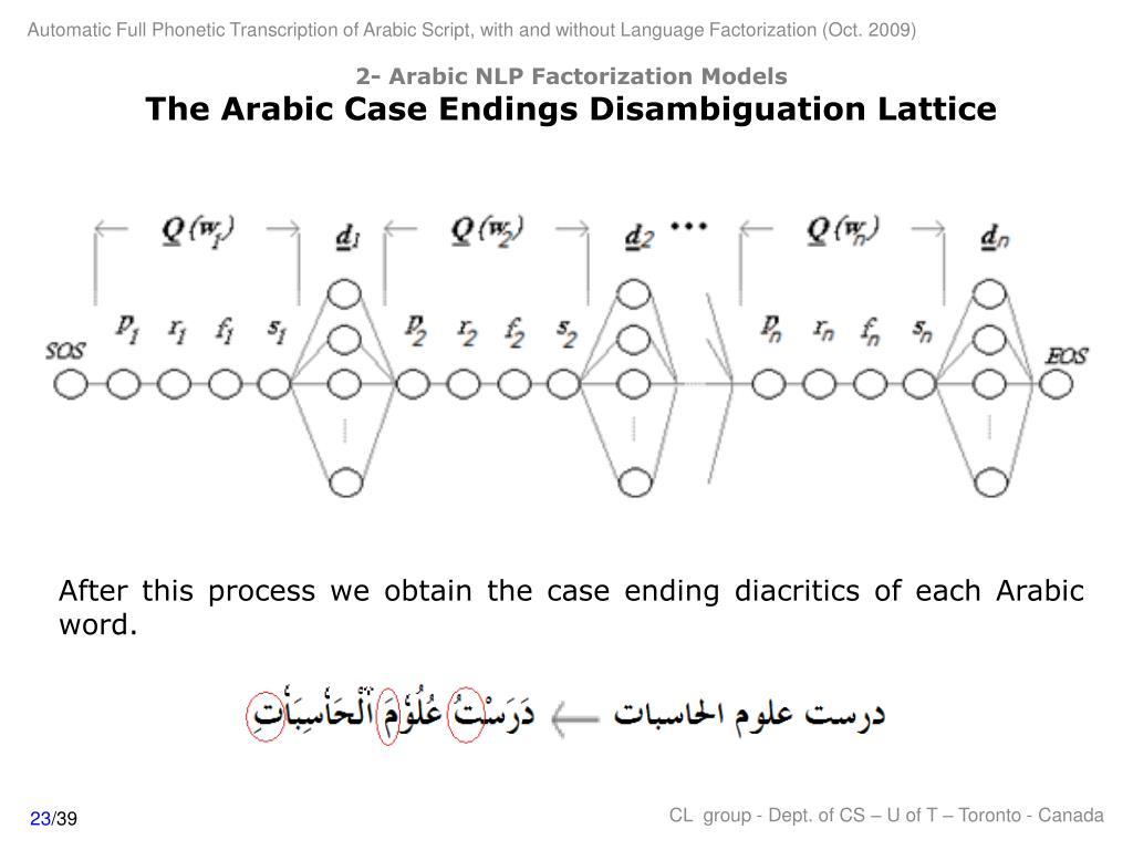 2- Arabic NLP Factorization Models