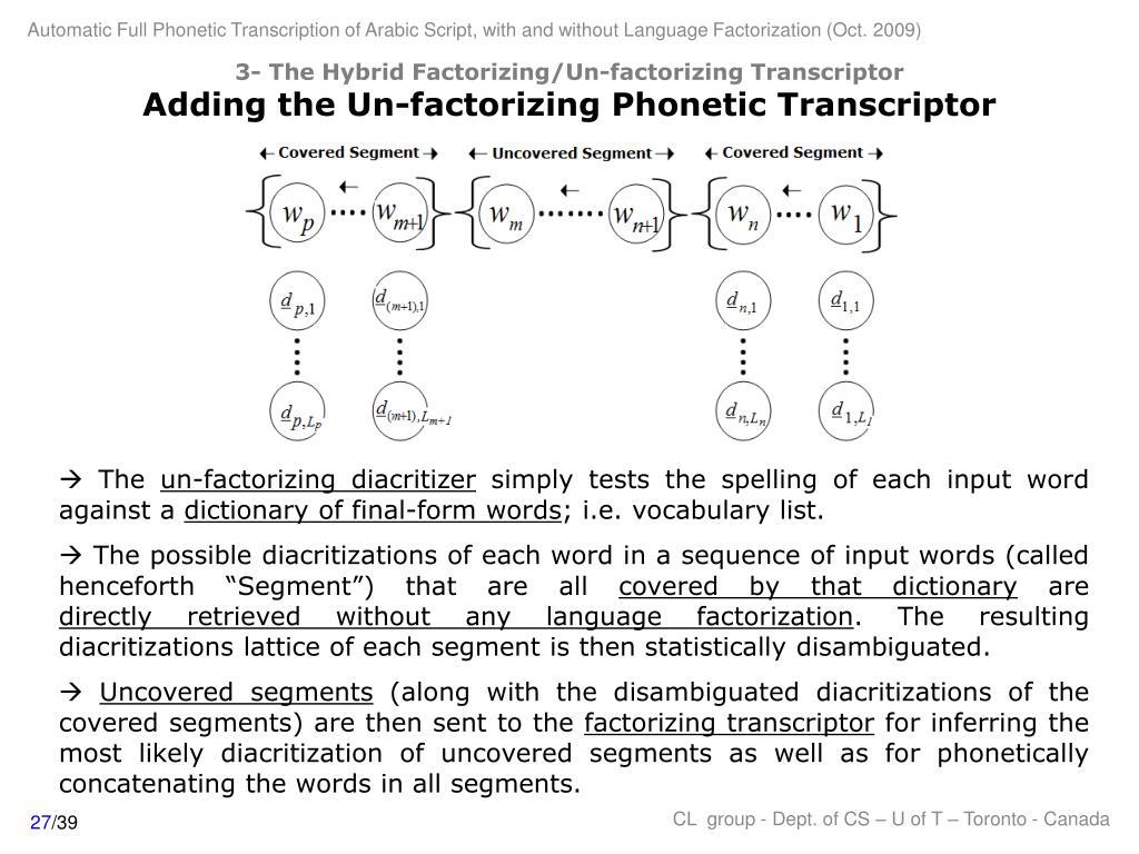 3- The Hybrid Factorizing/Un-factorizing