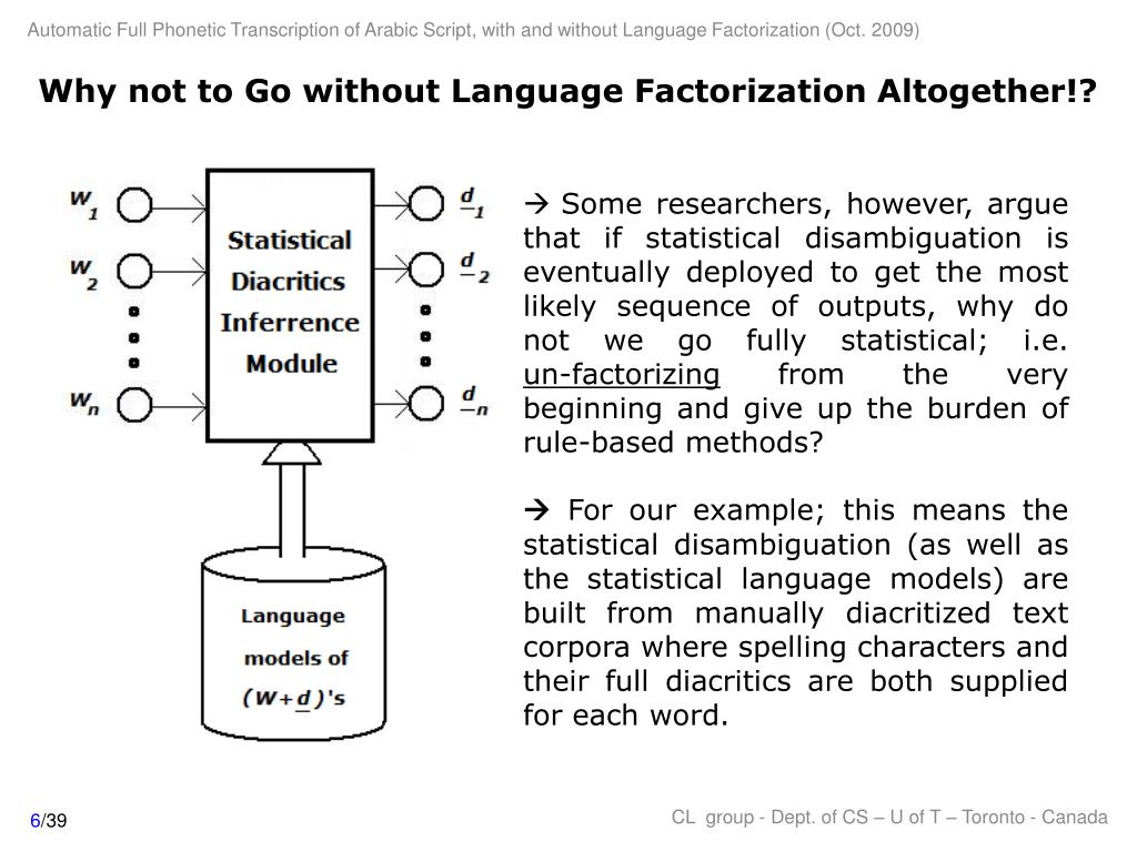 Why not to Go without Language Factorization Altogether!?