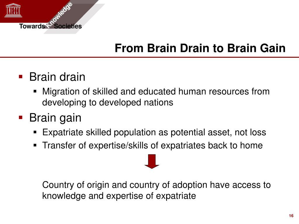 every brain drain is potential brain gain essay