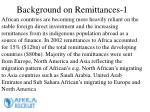 background on remittances 1