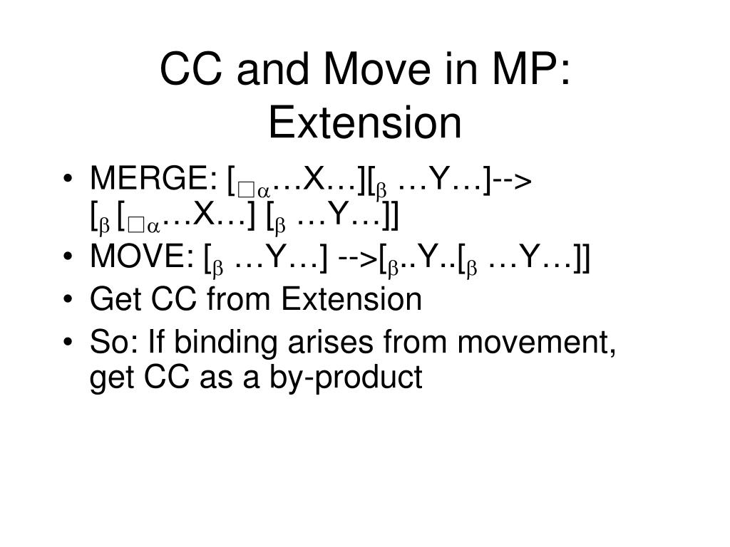 CC and Move in MP: Extension