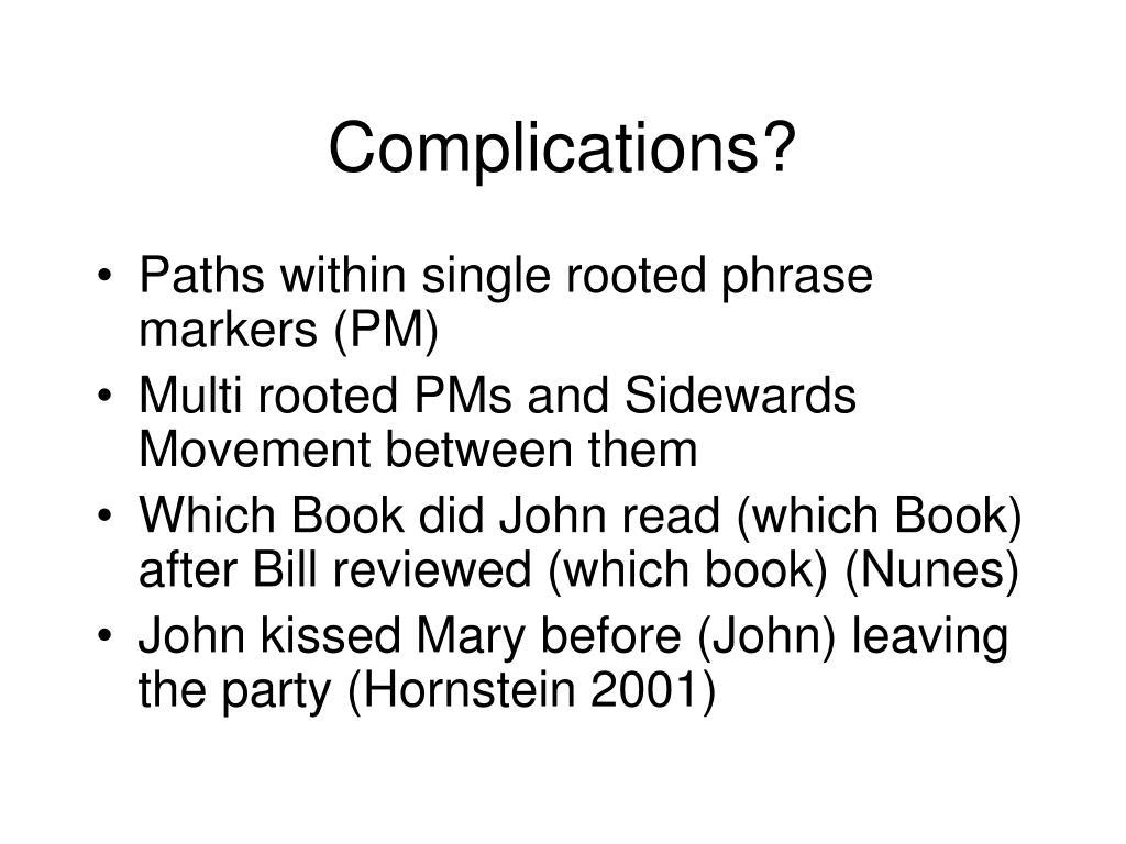 Complications?