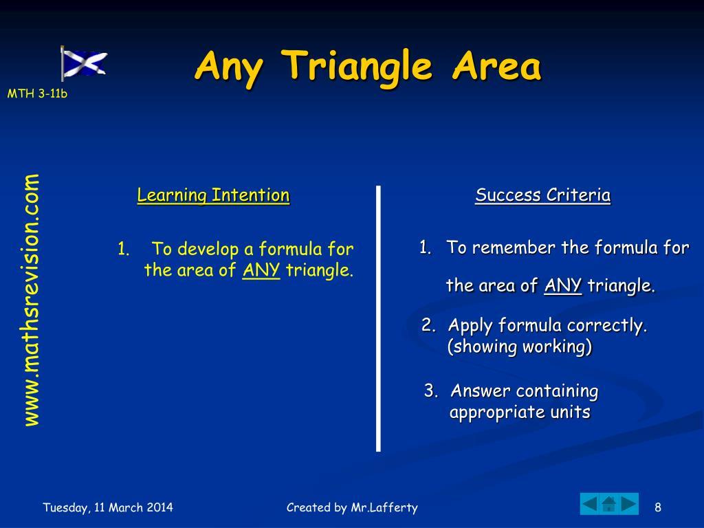 Any Triangle Area
