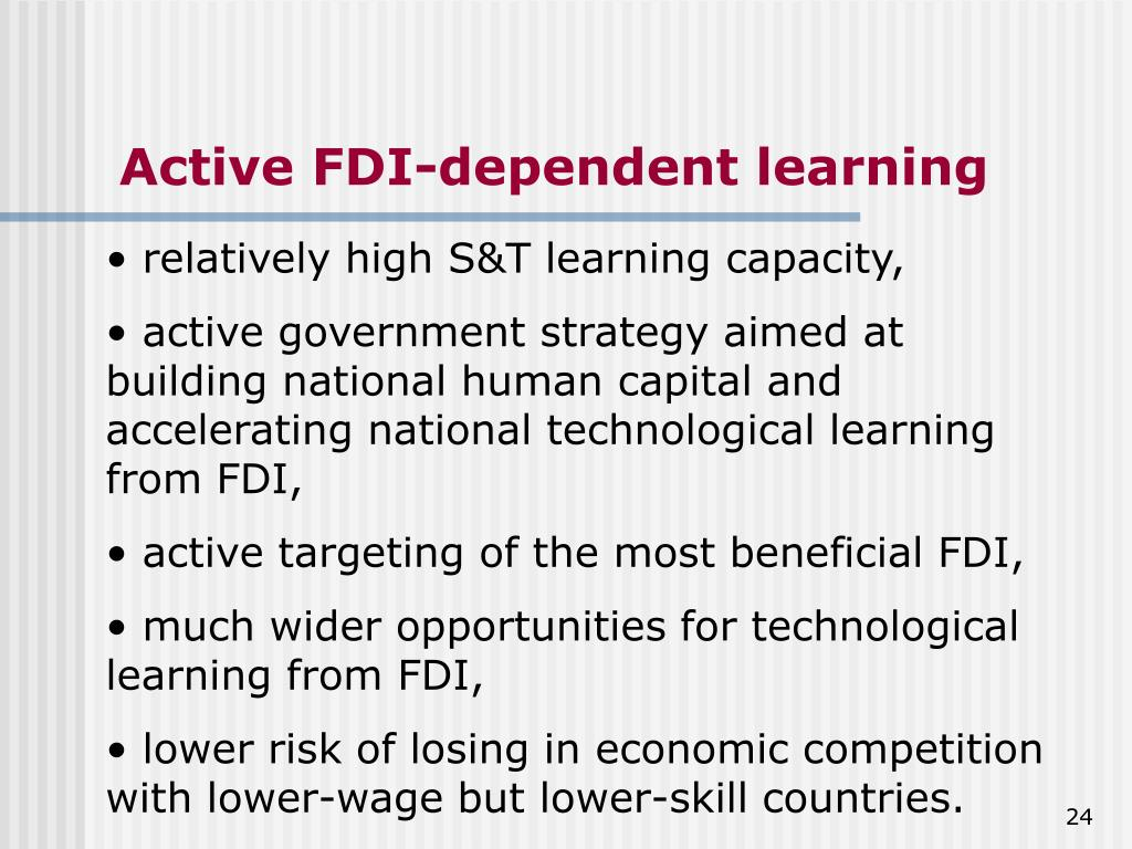 Active FDI-dependent learning