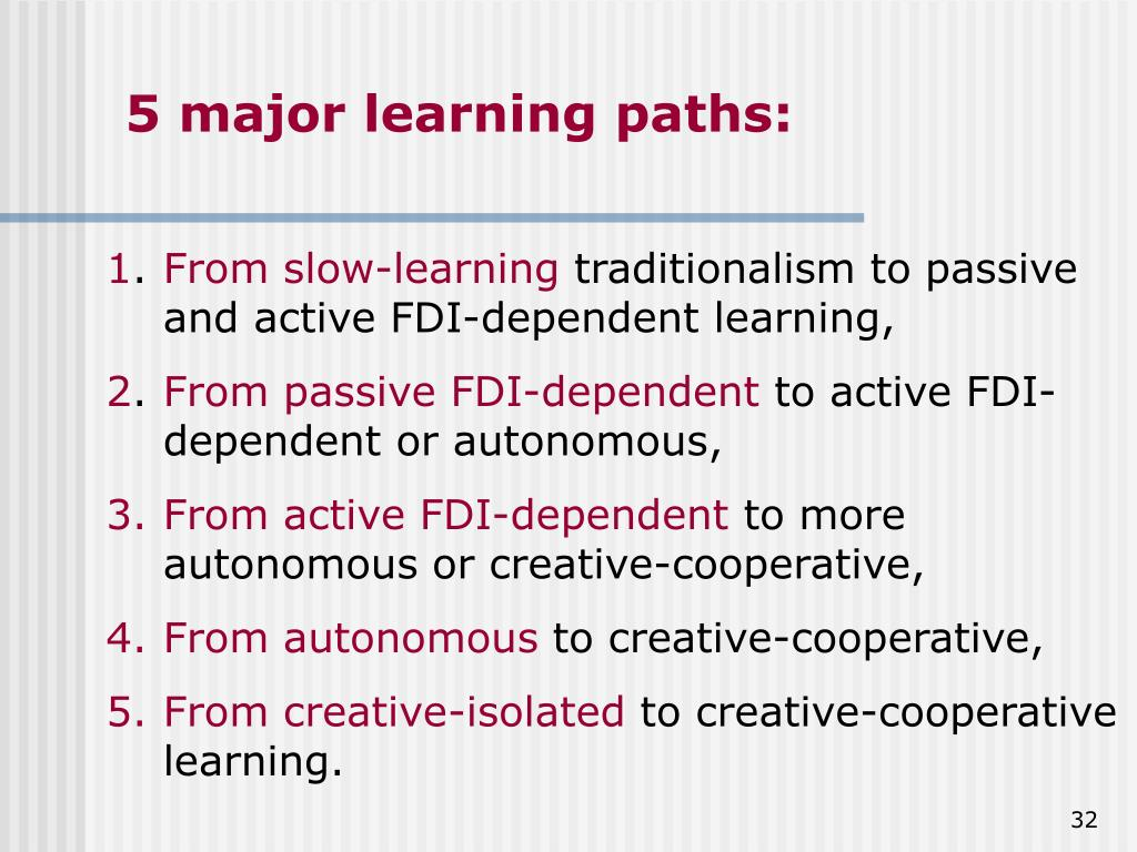 5 major learning paths: