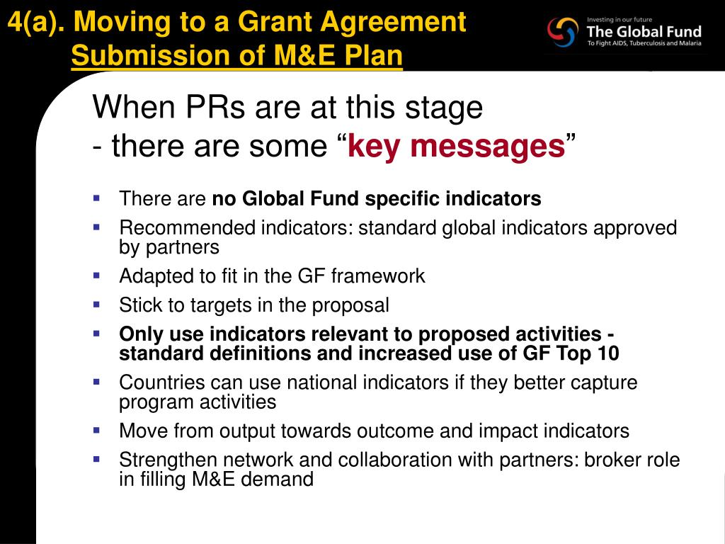 4(a). Moving to a Grant Agreement