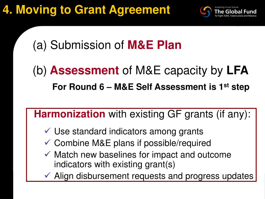 4. Moving to Grant Agreement