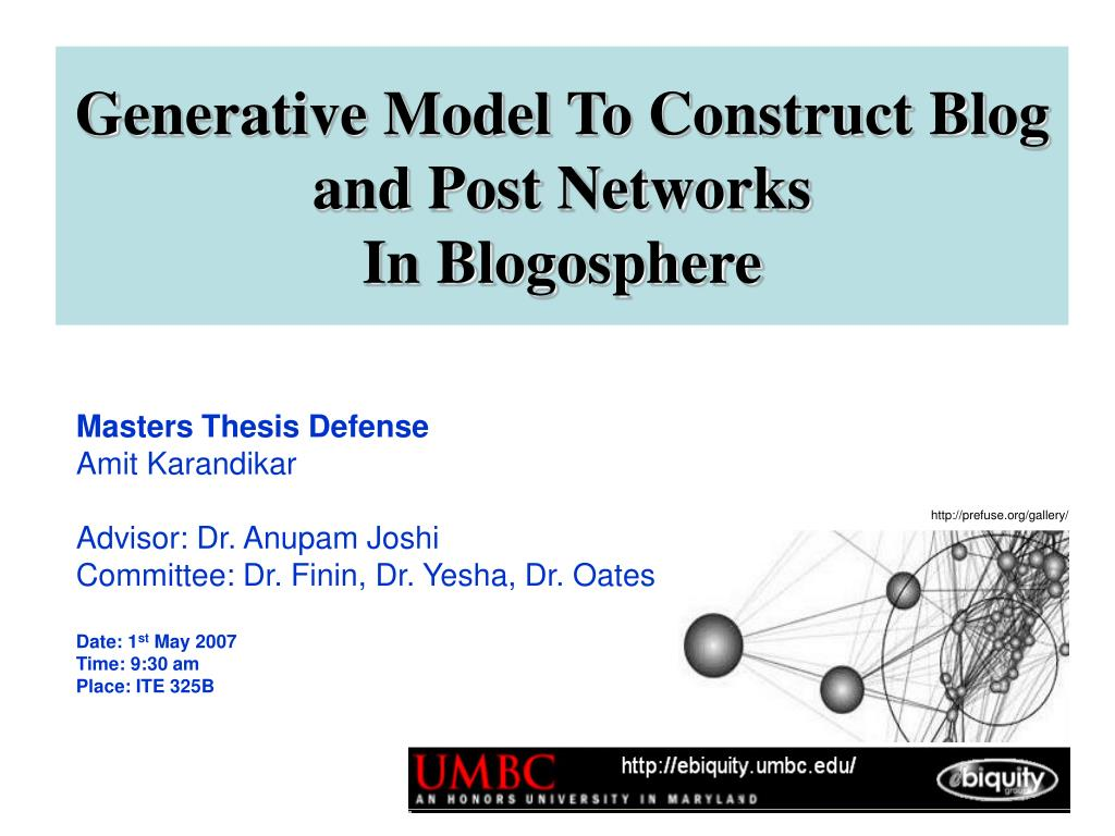 generative model to construct blog and post networks in blogosphere l.