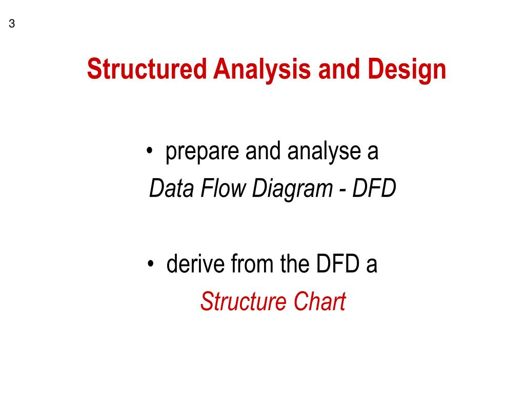 Structured Analysis and Design