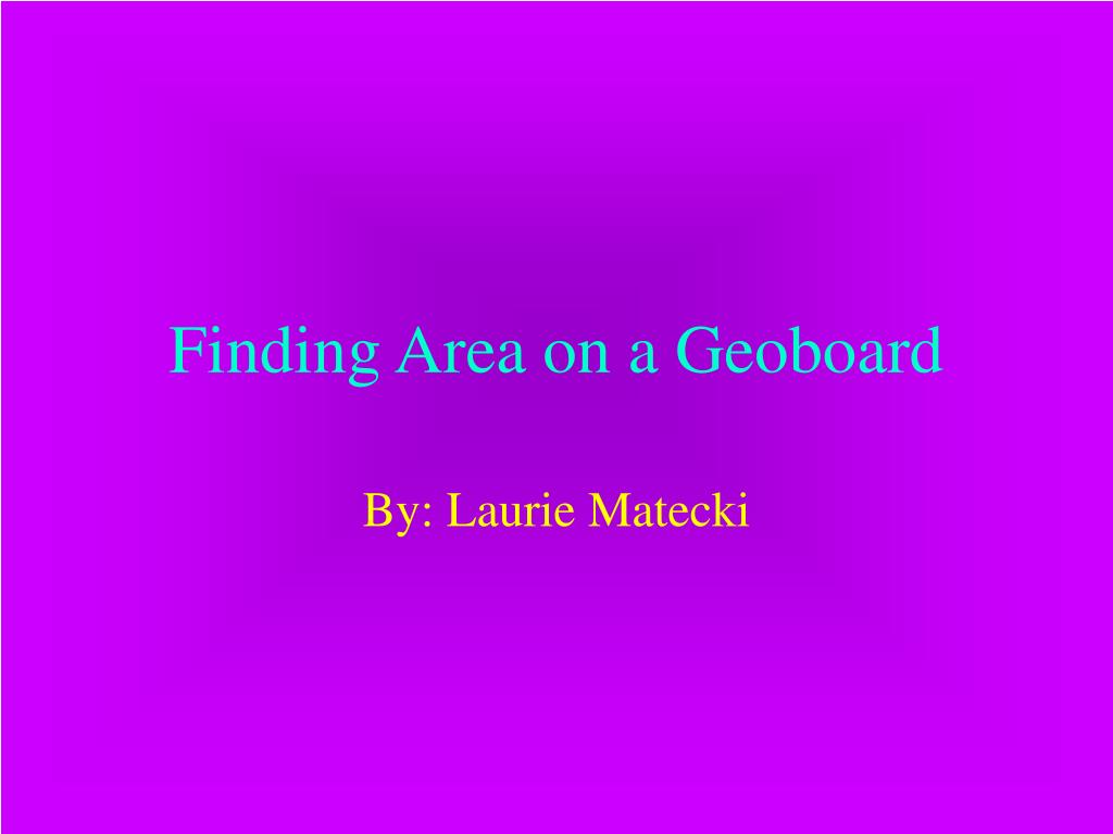 finding area on a geoboard
