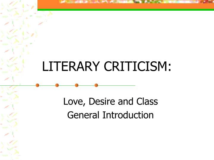 literary criticism n.