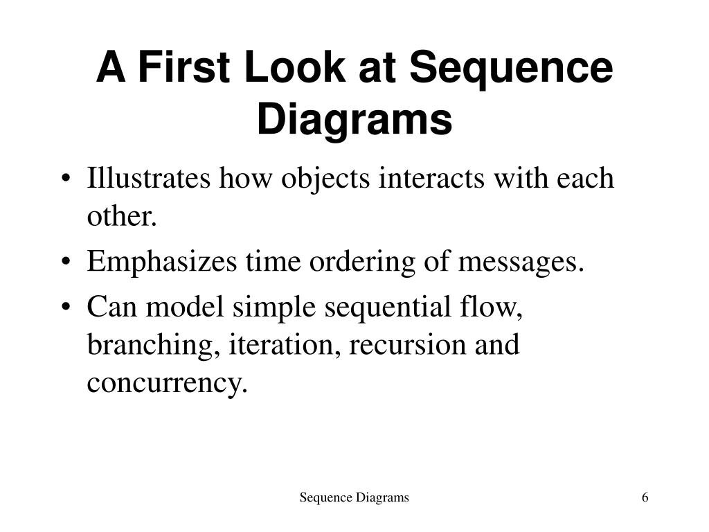 A First Look at Sequence Diagrams