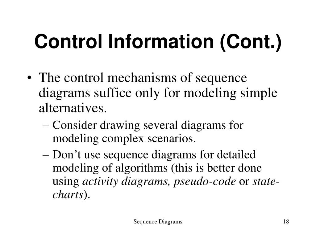 Control Information (Cont.)