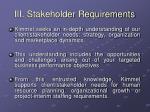 iii stakeholder requirements