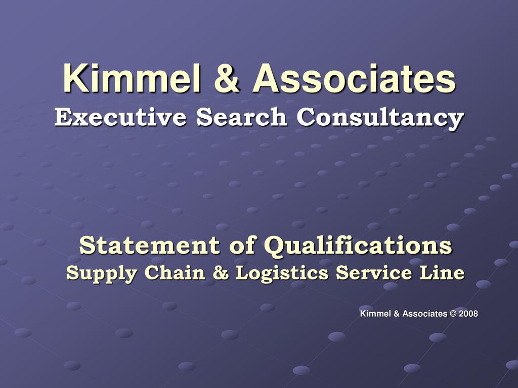 kimmel associates executive search consultancy l.